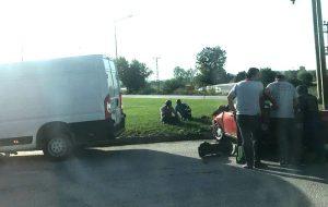 Karabiga Kavşağı'nda İlginç Kaza