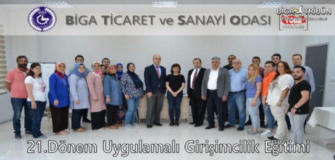 BİGA TSO'DA 21.DÖNEM GİRİŞİMCİLİK EĞİTİMİ SONA ERDİ.