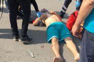Biga'da motosiklet otomobile çarptı: 1 yaralı