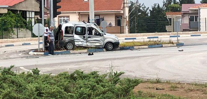 Biga'da yine bir trafik kazası: 1 yaralı