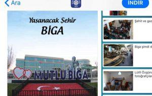 Biga Belediyesi mobil uygulaması yayında