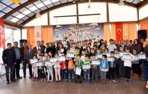 Çan Belediyesi 7'nci Satranç Turnuvasında ödüller sahiplerini buldu.