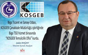 BİGA TSO, KOSGEB TEMSİLCİLİK OFİSİ KURDU
