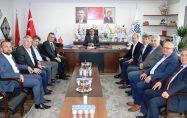 """Biga Ticaret Borsası'ndan Erdoğan'a """"hayırlı olsun"""" ziyareti"""