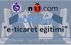 BİGA TSO'DA n11.com İLE E-TİCARET EĞİTİMİ YAPILACAK