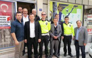 BÖLGE TRAFİK POLİSİ MUHTARLARLA BULUŞTU