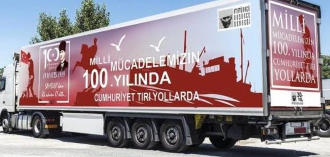 Cumhuriyet TIR'ı Biga'da