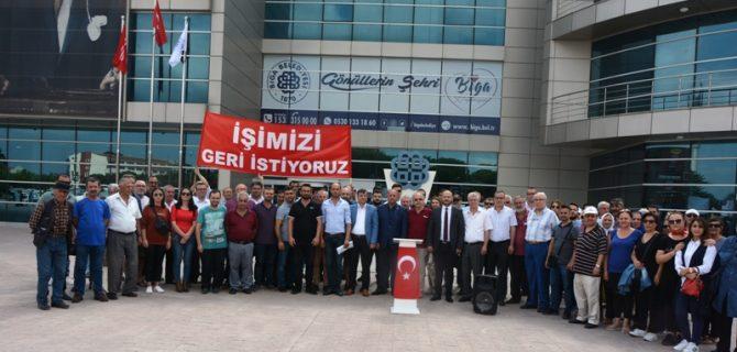 Cumhurbaşkanı Erdoğan'a Biga'dan mesaj var