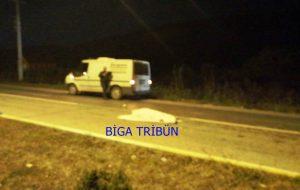 Biga'da otomobilin çarptığı 3 kişi hayatını kaybetti