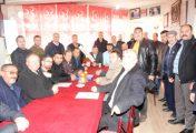 MUHTARLAR MHP' Yİ ZİYARET ETTİ