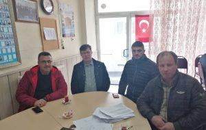 MHP İlçe Başkanı Salih Altınkaya'dan Muhtarlar Derneğine ziyaret
