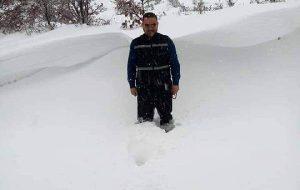 Biga'nın yükseklerinde kar yağışı