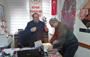 Başkan İrfan Çınar'a doğum günü sürprizi