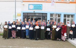 Mantar Yetiştiriciliği Kursunu tamamlayan kursiyerlere belgeleri verildi