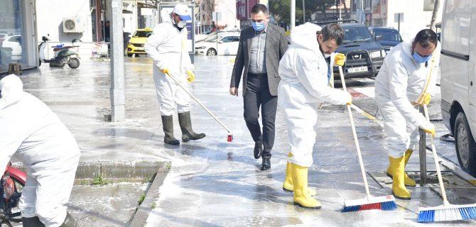 Biga Belediyesi'nden Dezenfekte Seferberliği