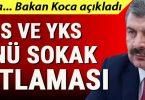 Cumhurbaşkanı Erdoğan'dan sokağa çıkma yasağı talimatı! LGS ve YKS günü..
