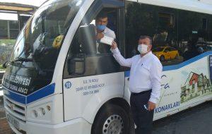 Tanur, Minibüs Ve Taksici Maske Dağıttı