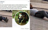 Akrabasını vurdu sosyal medyadan paylaştı