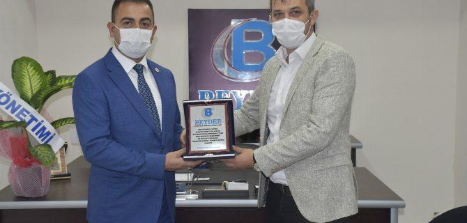 Biga Emlakçılar Derneğini Başkan Erdoğan ziyaret etti