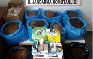 Balıklıçeşme ve Ağaköy'de kaçak sigara ve tütün operasyonu
