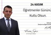 Biga AK Parti İlçe Hasan Sepici Öğretmenler Günü Mesajı