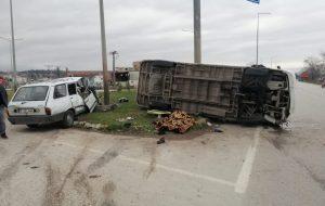 Biga'da Trafik kazası: 1 ölü, 4 yaralı