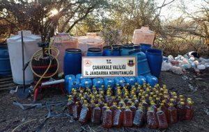 1510 litre kaçak şarap ele geçirildi
