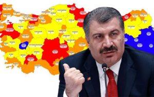 korona risk haritasında, İstanbul dahil 9 ilin turuncudan kırmızıya geçmesi bekleniyor