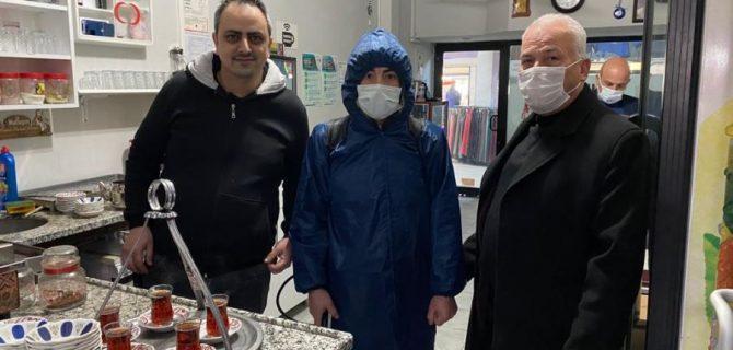 Biga'da Çay Ocakları Dezenfekte Edildi