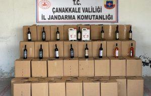 1733 şişe kaçak şarap ele geçirildi
