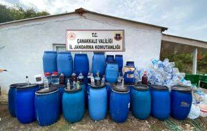 Biga'da kaçak içki operasyonu
